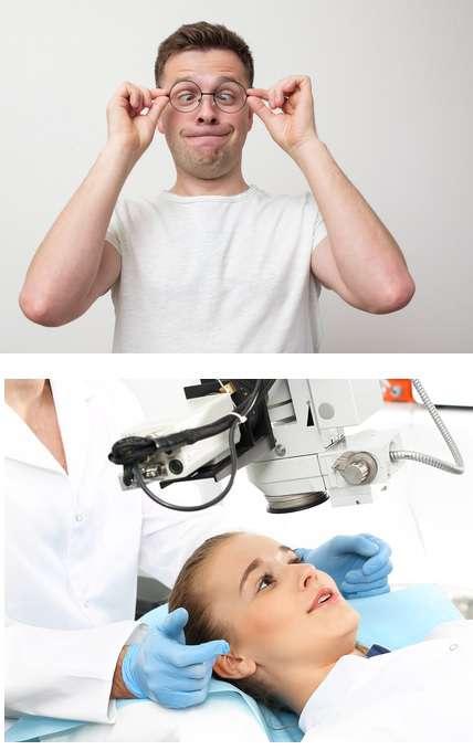 Лечение косоглазия у взрослых очками лазером